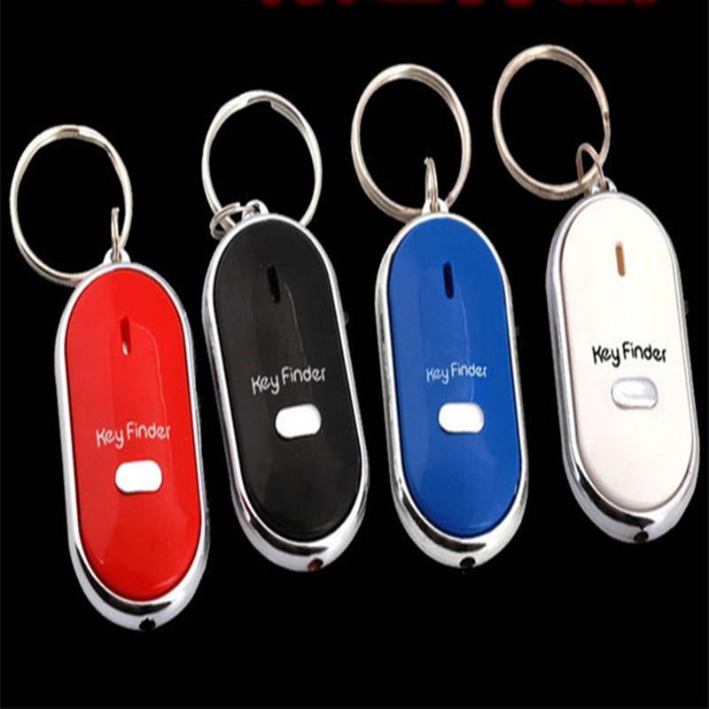 10PC Smart Finder Key Sensors KeyChain Sound LED With Whistle Claps Finder Locator Find Lost Keychain Finder Self Defense Alarm