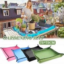 Potting Mat Gardening-Mat Flower Foldable Waterproof PE 75CM