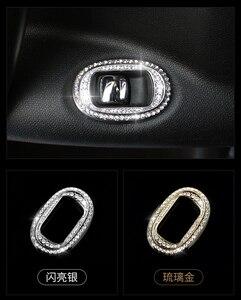 Image 5 - מכירה לוהטת עבור מיני קופר countryman R60 רכב סטיילינג דלת חלון מעלית מתג פנל מדבקת innerior קישוט קריסטל מדבקה