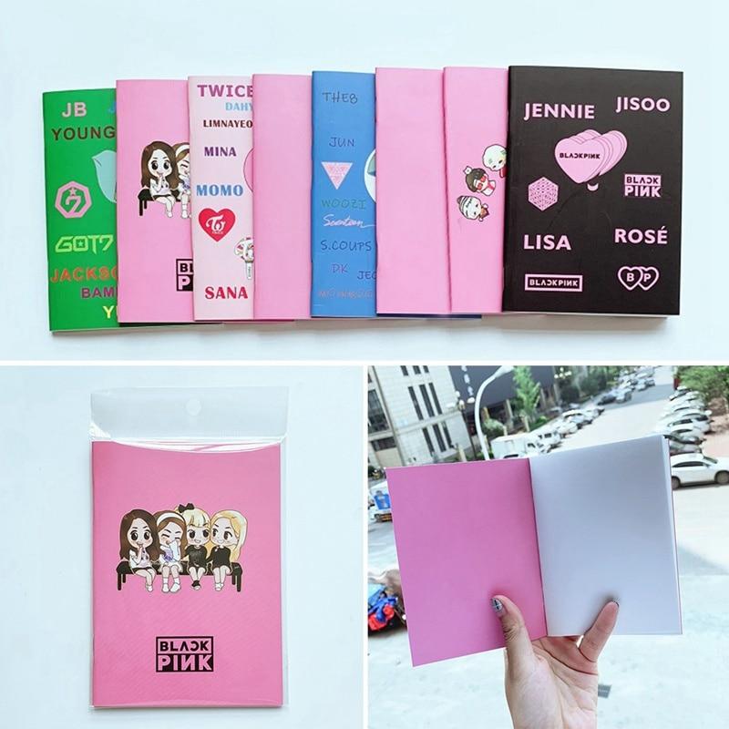 1Pcs Blackpink LISA ROSE JISOO JENNIE EXO Mini Diary Notebook Stationery Handbook Memo Notebooks Writing Supplies Fan Gift