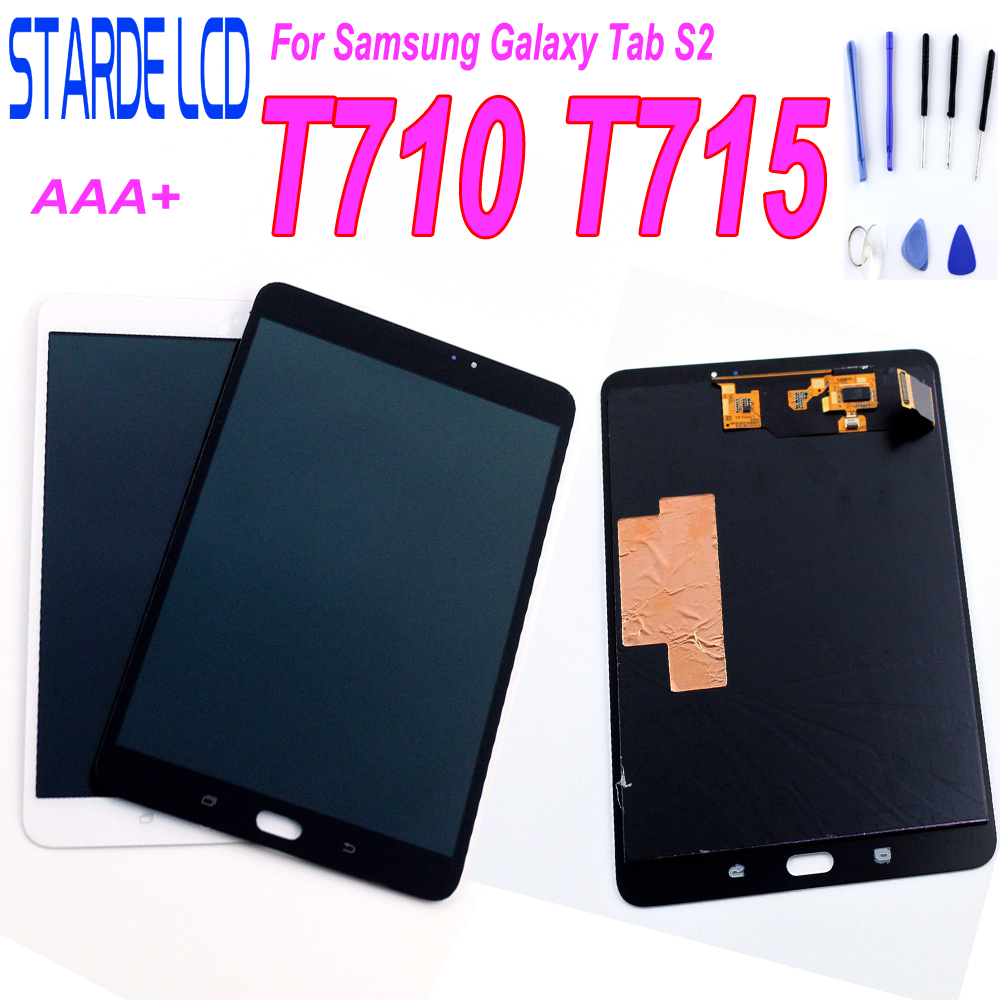 STARDE Replacement <font><b>LCD</b></font> For <font><b>Samsung</b></font> Galaxy <font><b>Tab</b></font> <font><b>S2</b></font> 8.0 SM-T710 WLAN T715 SM-T715C 4G <font><b>LCD</b></font> Display Touch Screen Digitizer Assembly image