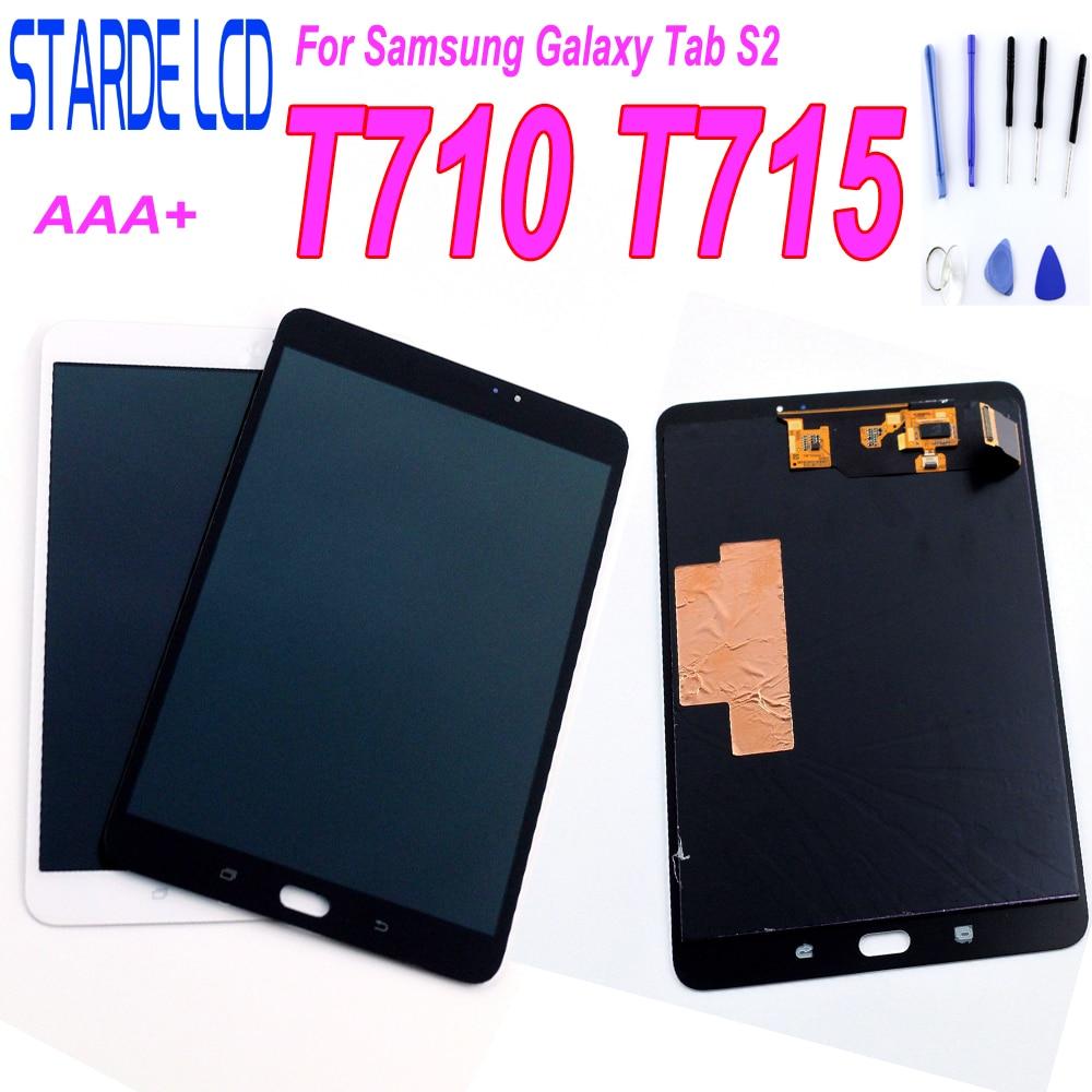 STARDE remplacement LCD pour Samsung Galaxy Tab S2 8.0 SM-T710 WLAN T715 SM-T715C 4G LCD écran tactile numériseur assemblée