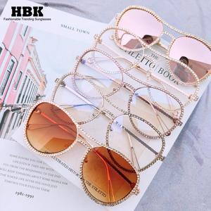 Luxury Rhinestone Glasses Frame For Women Diamond Anti Blue Light Blocking Computer Glasses Optical Myopia Spectacle Eyeglasses