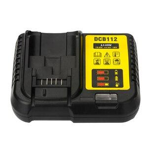 Image 2 - DCB112 wymienna ładowarka litowo jonowa do ładowarki Dewalt 12 V 14.4V 18V ogniwa baterii litowej