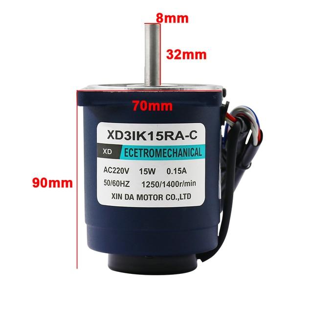 220V 15W AC motor speed 1400 rpm 2800 rpm motor-speed small motor reversing miniature single-phase
