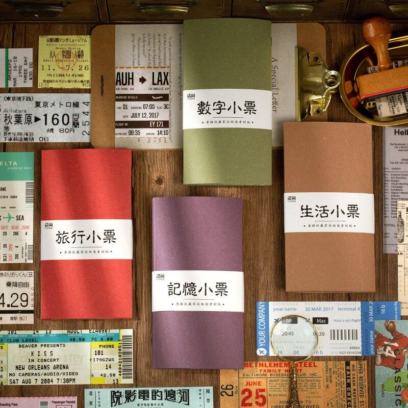 VanYi 4 Designs Rechnung Sammler Vintage Platz Scrapbooking/Karte, Der/Kugel Journaling Starter DIY Hangtag mit Loch Karte