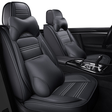 ZHOUSHENGLEE leather Universal Car Seat covers for Honda all models civic fit accord CRV XRV Odyssey Jazz City crosstour crider
