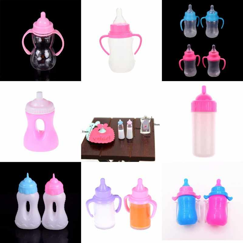 1/2Pcs New Rose and Blue Magic Feeding Bottles for babi Kelly Dolls Accessories For Kids Funny Toy