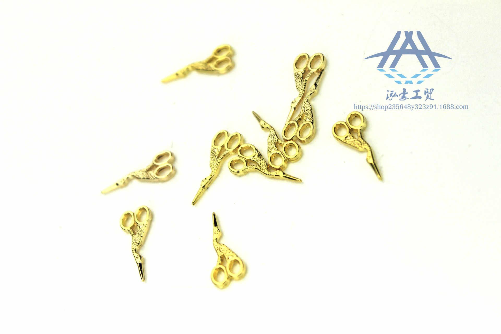 Wang Howe ของขวัญการปรับแต่ง 52 Miniature ของเล่นฉาก Dollhouse อุปกรณ์เสริม MINI Jin Se Niao กรรไกร H119