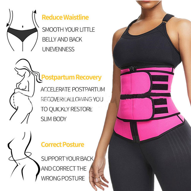 Waist Trainer Thermo Sweat Belt Waist Trainer Girdle Corset Women Tummy Body Shaper Shapewear Fat Burning Fitness Modeling Strap 5