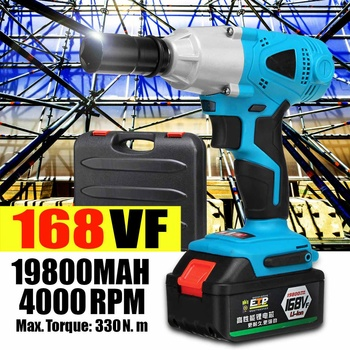 240V 19800mAh Electric Brushless Wrench Cordless Impact Drill Rechargeable Li-on Battery Electric Wrench Tools With Accessories