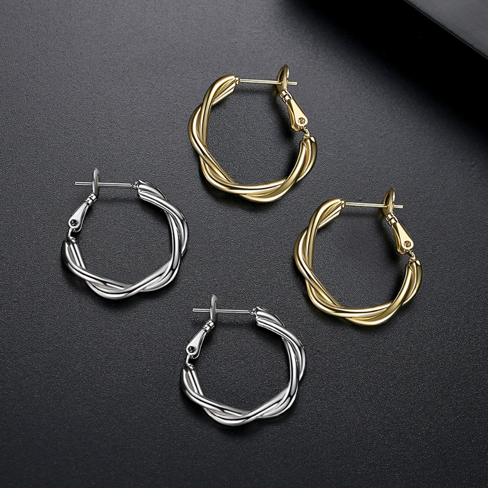LUOTEEMI-Minimalist-Twist-Type-Round-Earrings-for-Women-Girls-Party-Dating-Korean-Femme-Fashion-Jewelry-Brincos (3)