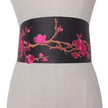 Women Elegant Fashion Ethnic Style Daily PU Leather Casual Waistband Clothes Accessories Floral Bowk