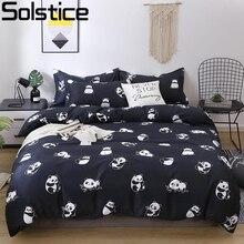 Solstício dos desenhos animados impressão verde gato cabeça crianças/criança conjuntos de cama capa edredão folha fronha roupa cama