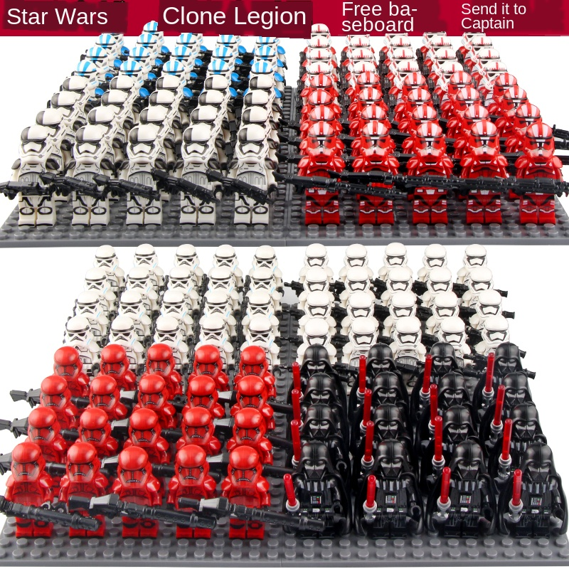 Star Wars9 21pcs 4.5cm The Mandalorian Military Police Stormtrooper Clone Trooper Dolls Assemble Darth Vader Building Block Toys