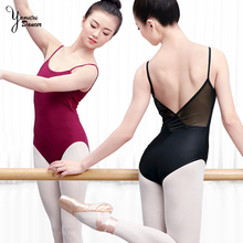 2020 Summer Adult Ballet Dance Leotard Practice Clothes Modal Red Sling Gymnastic Black Swimsuit for Dancing Open Back