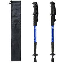 2 шт./лот, телескопические палки для скандинавских прогулок, анти-шок, треккинговые палки, регулируемые походные палки для альпинизма, скандинавские палки, резиновые наконечники