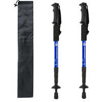 2pcs/lot Telescopic Nordic Walking Poles Anti Shock Trekking Poles Adjustable Hiking Climbing Scandinavian Sticks Rubber Tips