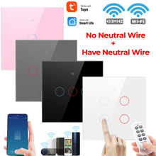 Smart Light Switch 1/2/3/4 Gang Voice Control Wall Switches Glass Screen Touch Panel Resists Scratches With Alexa Google Home