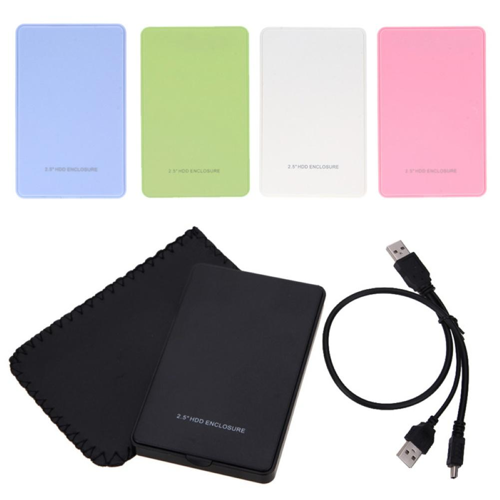 USB 2.5inch 2TB SATA HDD Disk SSD Box Hard Drive  Adapter  External Enclosure Case For PC Laptop