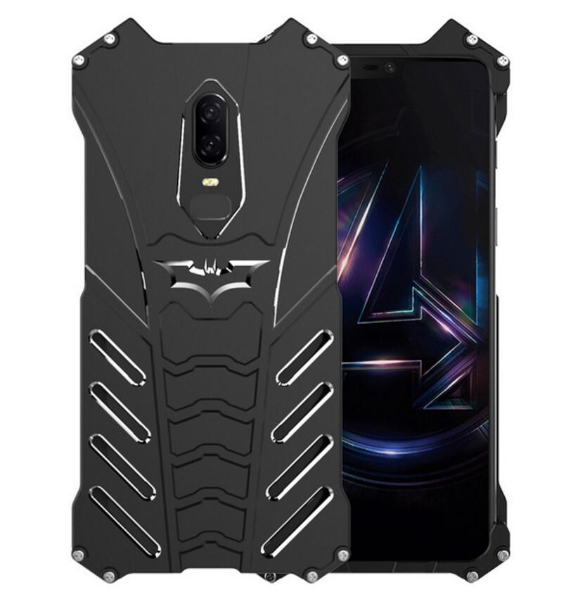 For OnePlus 7 Pro Case Batman Luxury Aluminium Metal Bumper Case For OnePlus 6 / 6T Phone Cover Coque For OnePlus 5T Back Cover