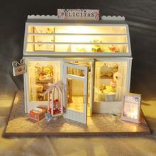 DIY деревянный кукольный дом кукольные домики миниатюрная кукольная мебель набор игрушек для детей рождественские подарки ручной работы головоломки детские игрушки