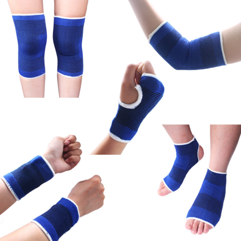 Protector Bandage Brace Support Football-Volleyball Knee-Pad Elbow-Sleeves Basketball title=