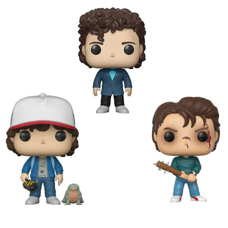 Funko POP Stranger Things Eleven Dustin Keychain Vinyl Action Figures Collection Model Toys For Kids Birthday Gift