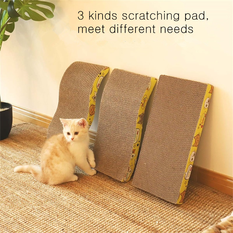 Bed-Mat Pet-Scratcher-Pad Cat Cat-Toy Durable with Claw-Care 3-Shape Big-Size Double-Sided
