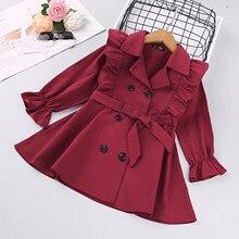 Jacket Toddler Baby-Girl Children's Warm Fashion Winter Coat Solid O-Neck Clothing Belt