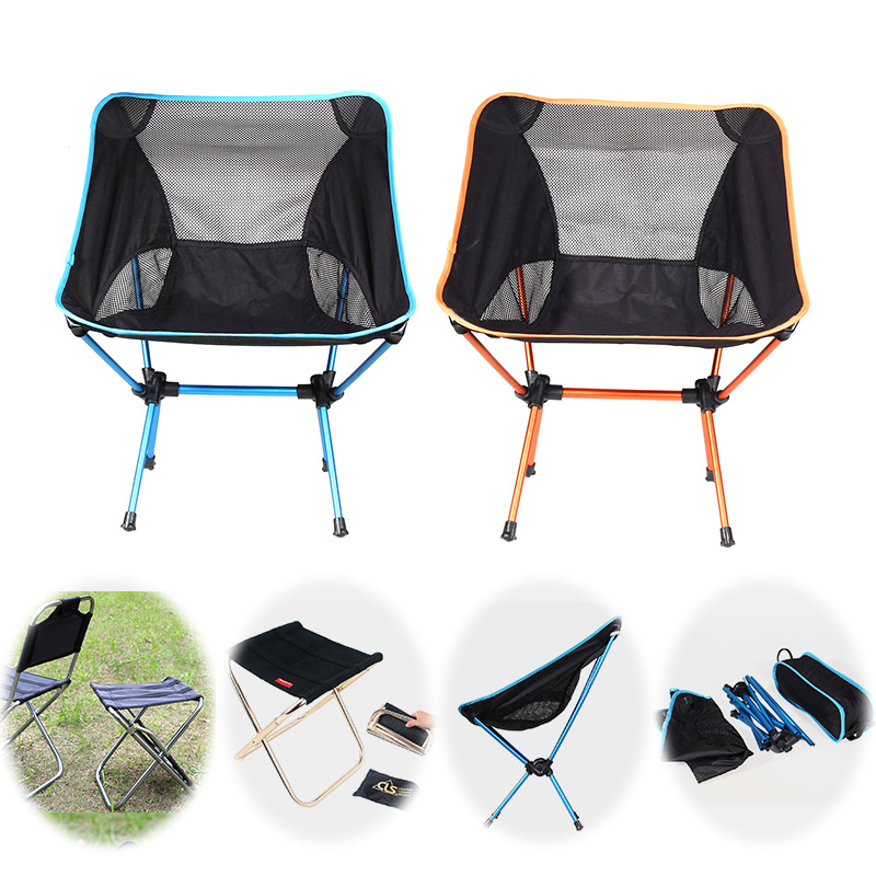 Outdoor Portable Camping Chair Lightweight Folding Beach Chair For Hiking Fishing Picnic Barbecue Vocation Casual Garden Chairs