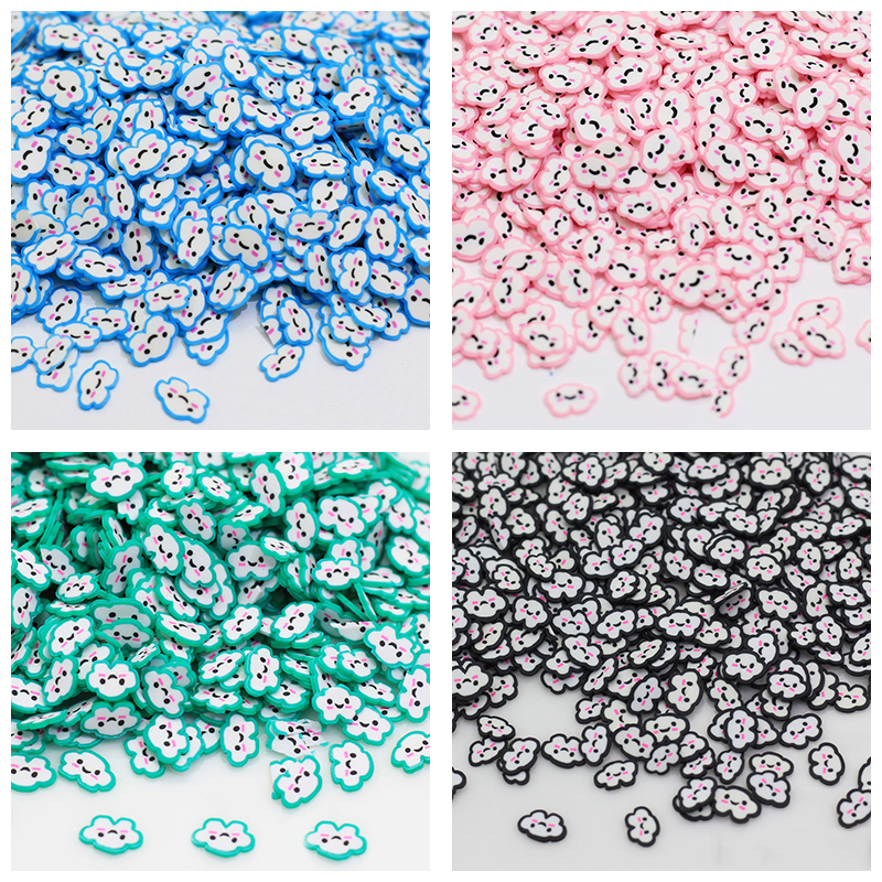 10g/pack DIY Polymer Clay Cloud Slices Slime Supplies Charms Cute Fimo Additives Kits Sprinkles For Fluffy Clear Slime Toys Gift