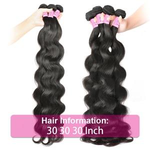 Image 3 - UNice mechones de cabello ondulado peruano de 28 pulgadas, extensiones de cabello humano 100%, tejido de cabello virgen, Color Natural, 1 unidad