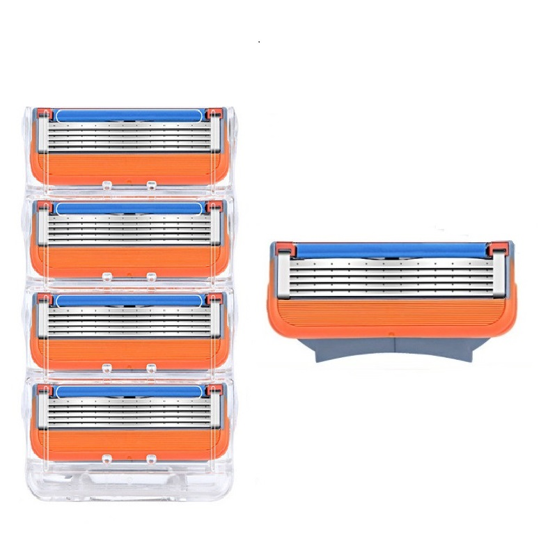 20PCS/BOX Men Razor Blades 5 Layer High Quality Shaving Cassettes Face Care Men Shaving Blades Compatible With Gillettee Fusione