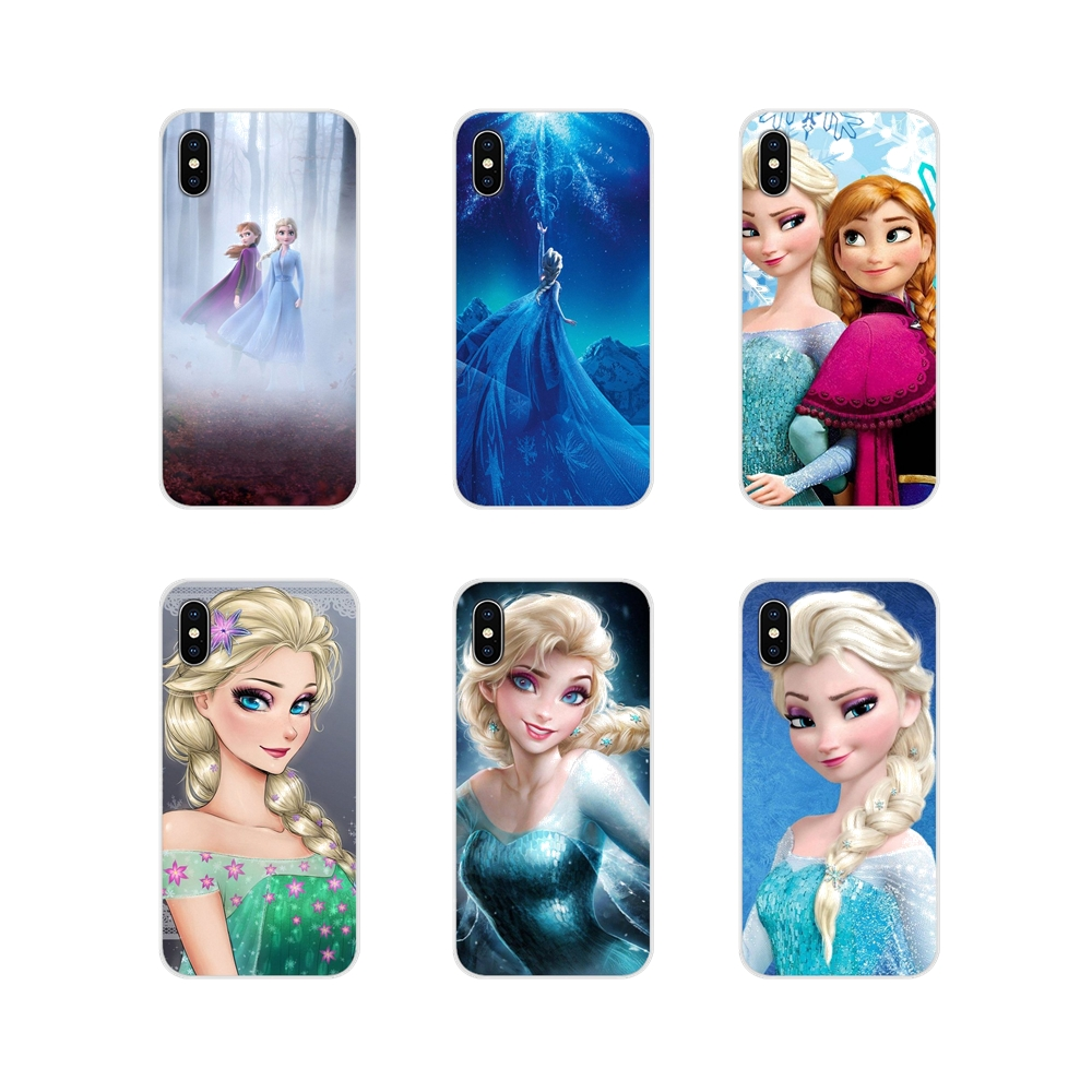 Accessories Phone Shell Covers princess elsa Anna For Apple iPhone X XR XS 11Pro MAX 4S 5S 5C SE 6S 7 8 Plus ipod touch 5 6