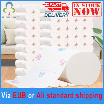 20 Rolls Toilet Paper Printing Pattern Roll Toilet Paper High quality 5-layer Thicken Roll Paper in Bathroom Paper Towel GYH tanie i dobre opinie Drewna