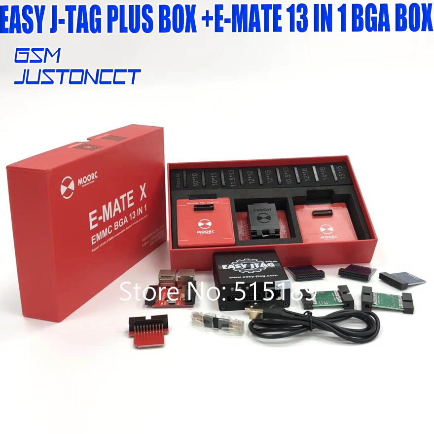 2019 the Newest version Full set Easy Jtag plus <font><b>box</b></font> Easy-Jtag plus <font><b>box</b></font>+<font><b>E</b></font>-<font><b>MATE</b></font> 13 in 1 bga <font><b>box</b></font> image