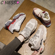 High Platform Sneakers Women Running Shoes for Women Outdoor Air Platform Sneakers Women Stylish Sport Shoes Woman Shoes Sneaker(China)