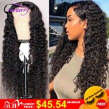 Cabello de arándano 360, peluca Frontal de encaje, peluca Remy brasileña de ondas profundas, peluca Frontal de encaje 13x4, pelucas de cabello humano para mujeres, peluca con cierre de encaje 4X4