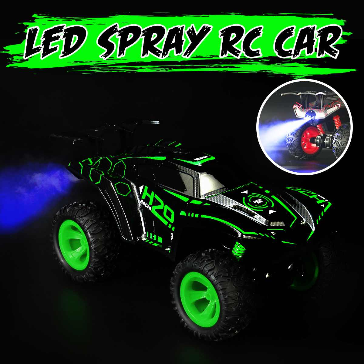 1/12 RC Car LED Spray 2.4G Remote Control Off-Road Vehicle Trucks Toys