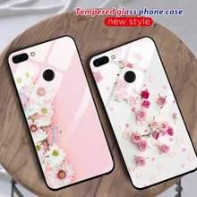 Flamingo flor telefone caso vidro para huawei p30 lite 20 por p9 10 companheiro 10 9 honra 8x9 10 nova 5 capa