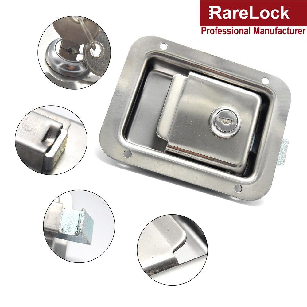 Купить с кэшбэком Stainless Cabinet Lock for RV Truck Pickup Accessories Bus Car Lock Rarelock MMS216 dd