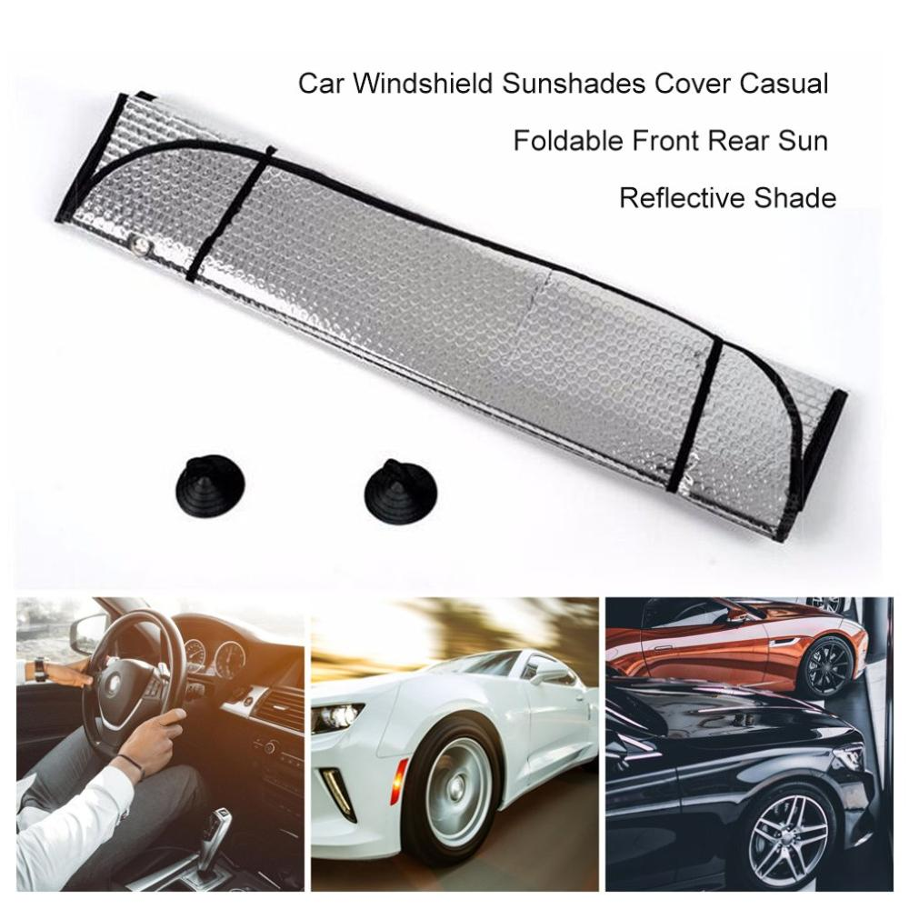 Car Windshield Sunshades Cover Casual Foldable Front Rear Sun Reflective Shade