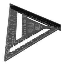 Garden Gloves Measuring-Tools Woodworking Ruler Carpentry 12in Aluminum-Alloy Black Triangle