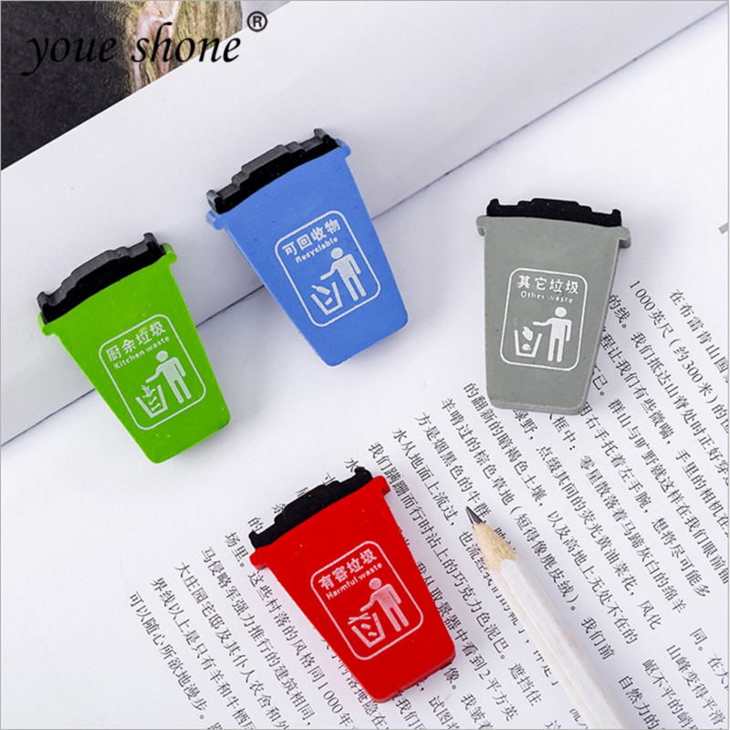 1PCS Student Stationery Garbage Classification Modeling Eraser Children School Supplies Eraser Prize Office School Supplies Gift