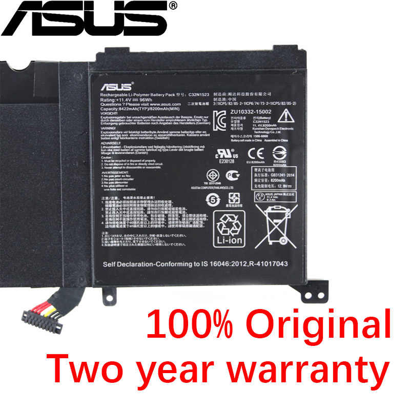 ASUS оригинальный 8422 мАч C32N1523 Аккумулятор для ноутбука Asus Zenbook Pro UX501VW UX501V G501VW FI074T 11 4