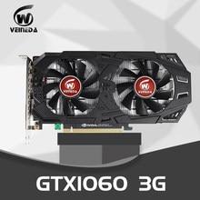 Veineda placas gráficas gtx1060 placa de vídeo superior 3g nvidia boost 1506mhz 192bit gddr5 pci-e 3.0 gtx 1060 cartão de jogo