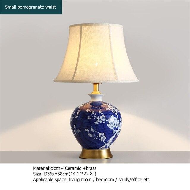 Фото oufula латунные настольные лампы синий керамический настольный цена