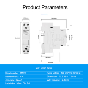 Image 3 - Hause Smart 18mm 1P WiFi Remote APP Control Circuit Breaker Timing Schalter Treppe Timer Din schiene Universal 110V 220V AC Eingang