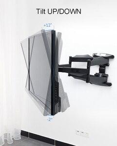 "Image 4 - 2019 חדש NB P5 אוניברסלי מלא תנועה 32 "" 60"" LCD טלוויזיה קיר הר סוגר 6 זרוע חזק 36.4kg 400X400 עם כבל כיסוי מסתובב pivot"